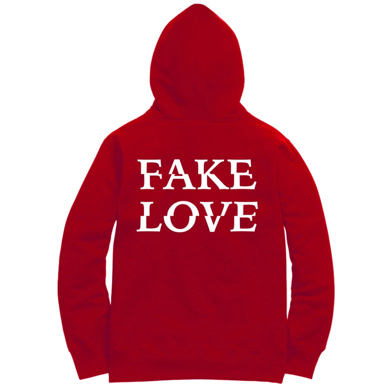 Image of Untamed - Red Fake Love Hoodie