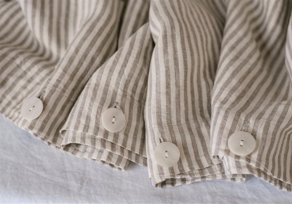 Image of Grey Stripes Duvet