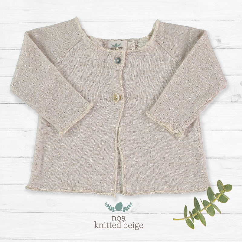 Image of Cardigan Noa Knitted Beige