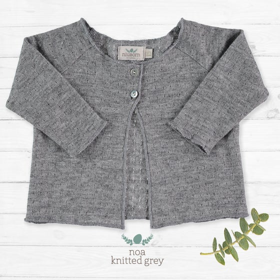 Image of Cardigan Noa Knitted Grey (antes 33€)