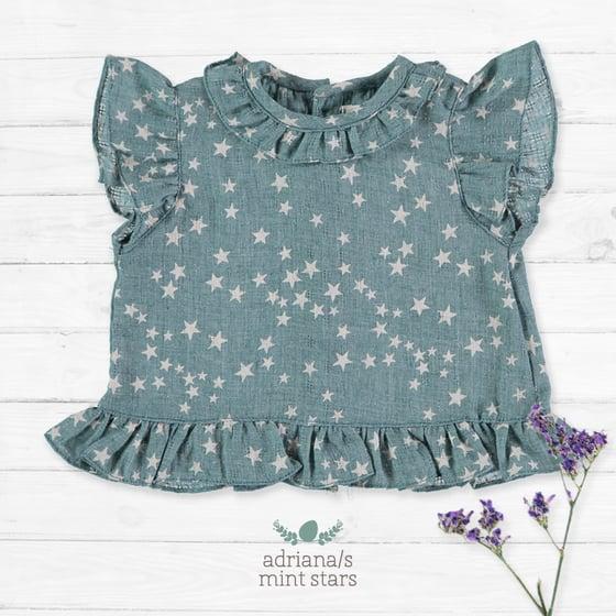 Image of Camisa Adriana/S Mint Stars (antes 33€)
