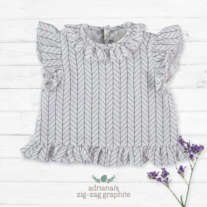 Image of Camisa Adriana/S Zig Zag Graphite