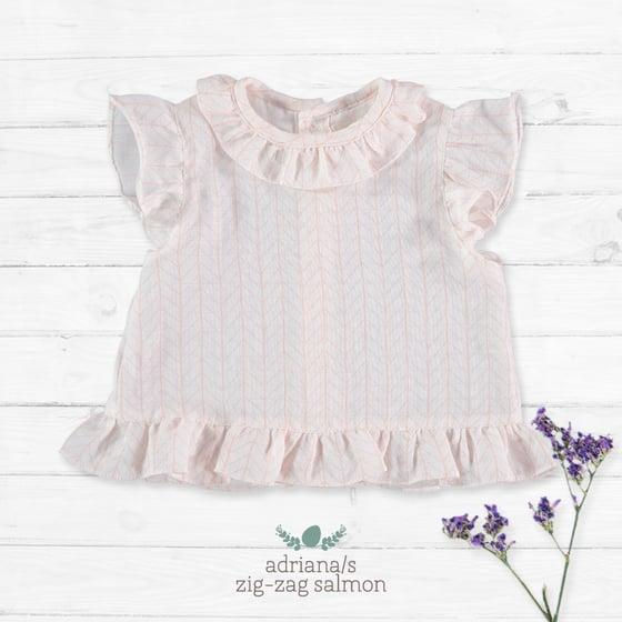 Image of Camisa Adriana/S Zig Zag Salmon (33.00€)