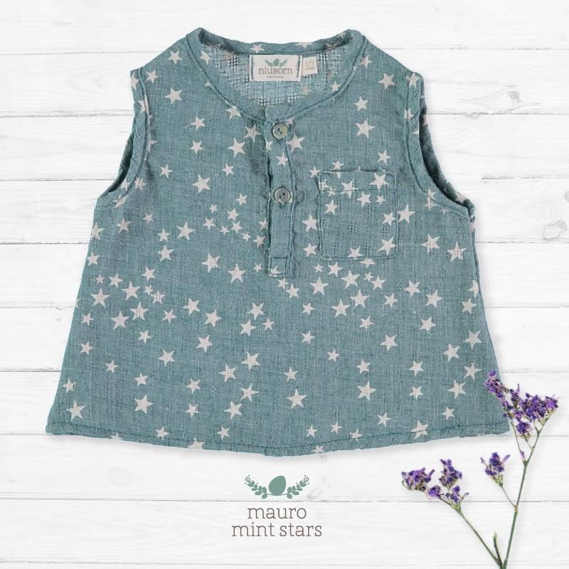 Image of Camisa Mauro Mint Stars