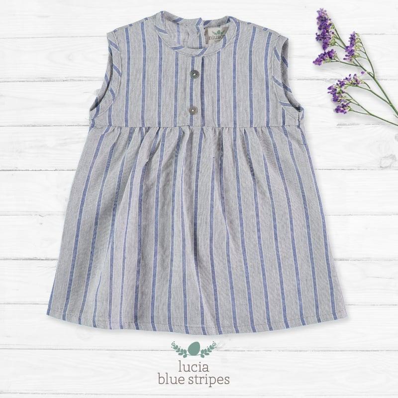 Image of Vestido Lucia Blue Stripes