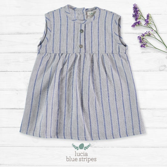 Image of Vestido Lucia Blue Stripes