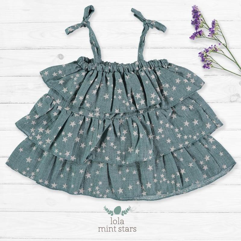 Image of Vestido Lola Mint Stars (antes 37€)