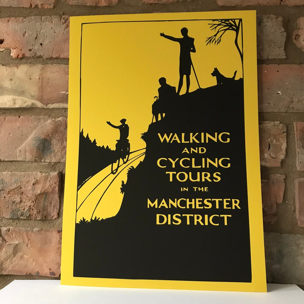 Image of MANCHESTER DISTRICT ART PRINT IN MUSTARD