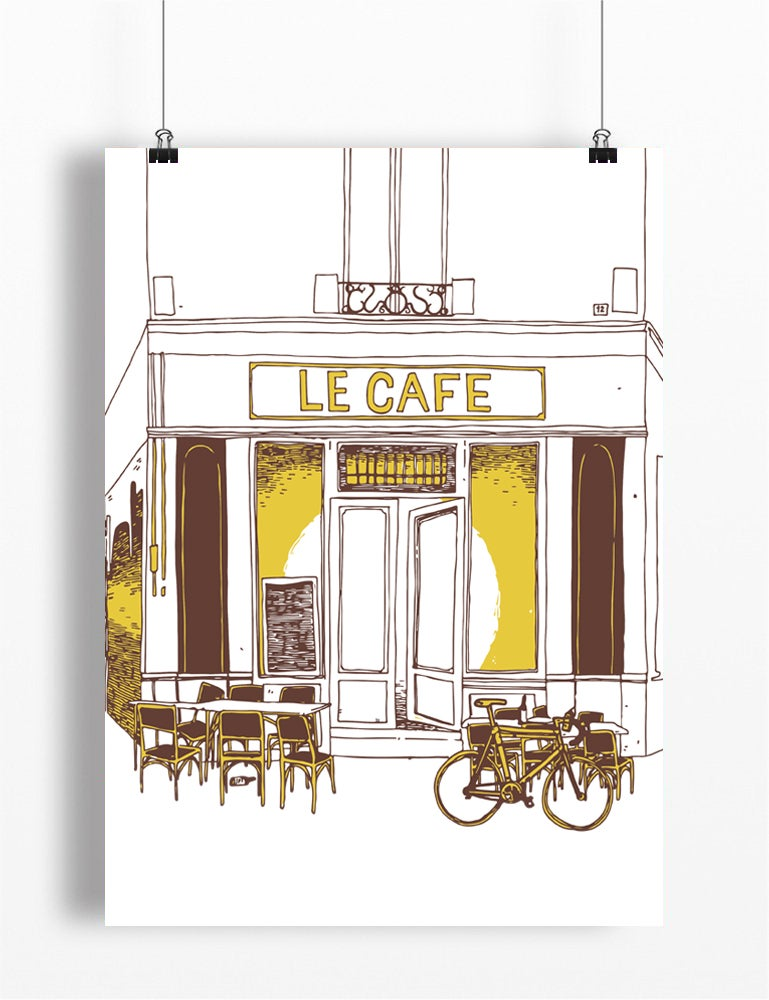 Image of The Café Stop A4 or A3 - By Matthew Burton