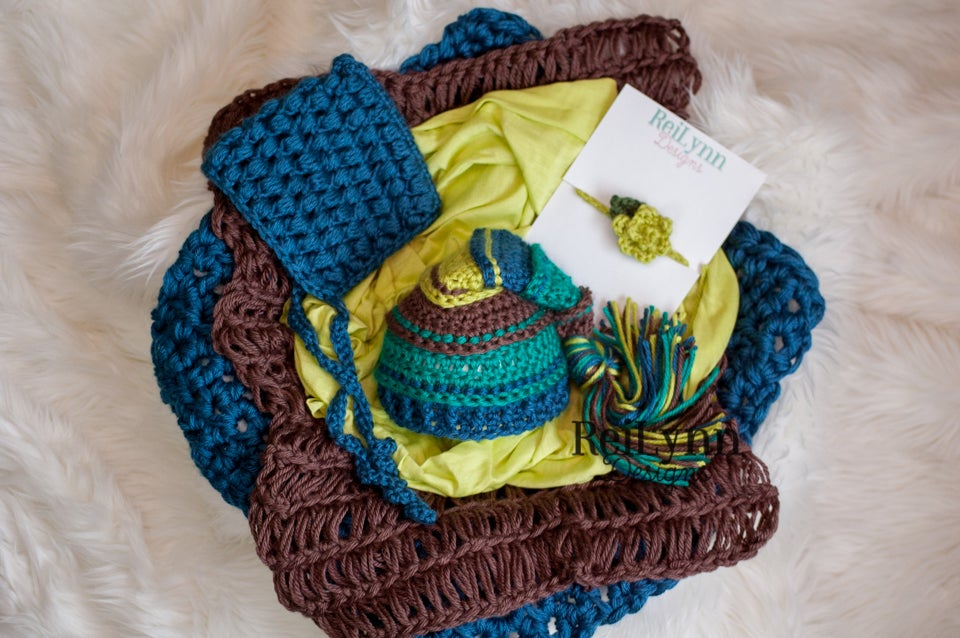 Image of Taupe, Teal, Ocean, Chartreuse Photography Prop Bundle