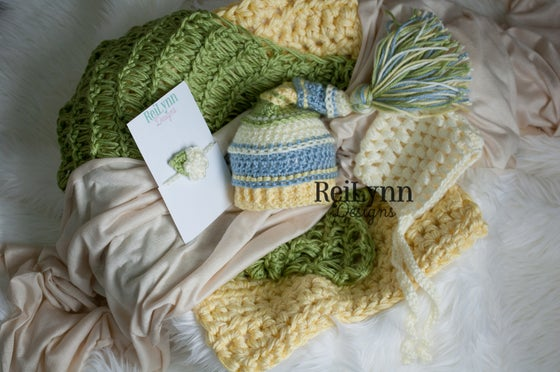 Image of Ivory, Light Country Blue, Baby Maize and Sage Photography Prop Bundle