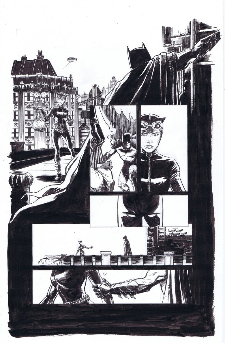 Image of Batman & Catwoman Pg. 1 (DC Talent Workshop pages)