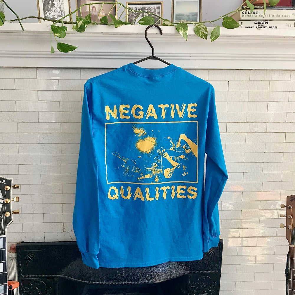 Image of Negative Qualities - Long Sleeve BLUE/YELLOW