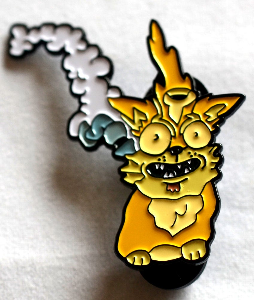 Image of SquanchyLazerCat Hat Pin