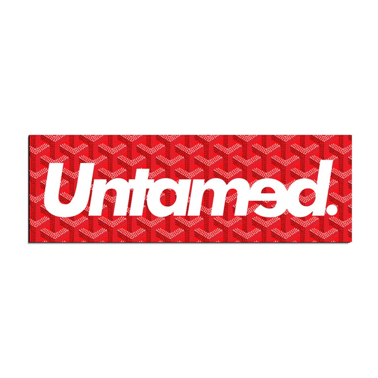 Image of Untamed - Red Pattern Box Sticker