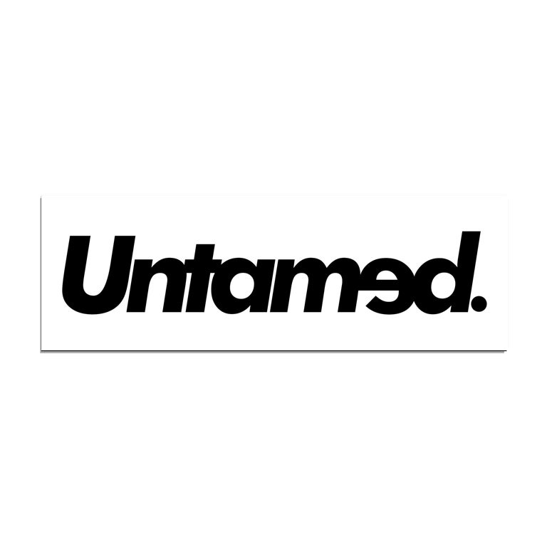 Image of Untamed - White box sticker