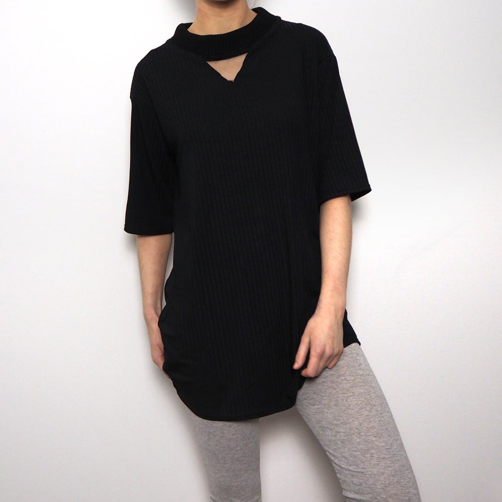 Image of The Black Over-Sized Dress Tee