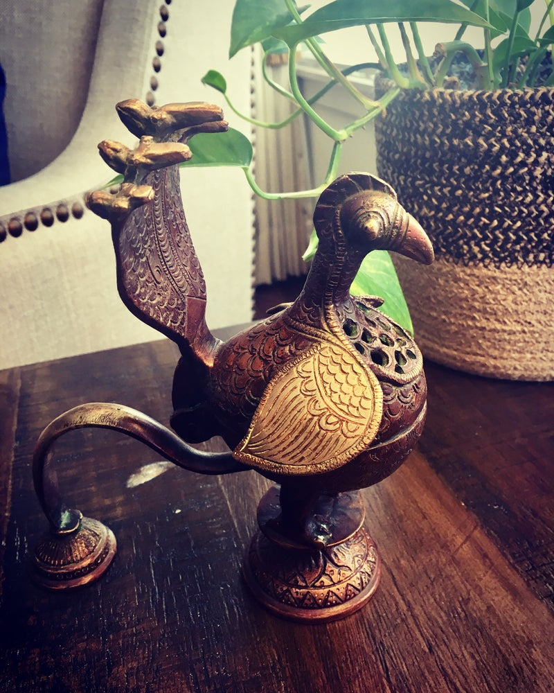 Image of Vintage Bird Incense Burner