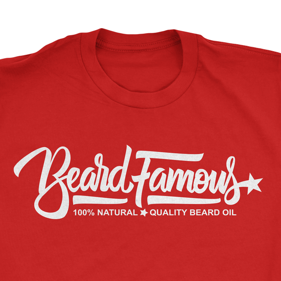 Image of Beard Famous 100% Quality * Natural Beard Oil Tee