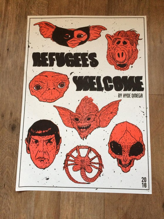 Image of Refugees Welcome - Affiche