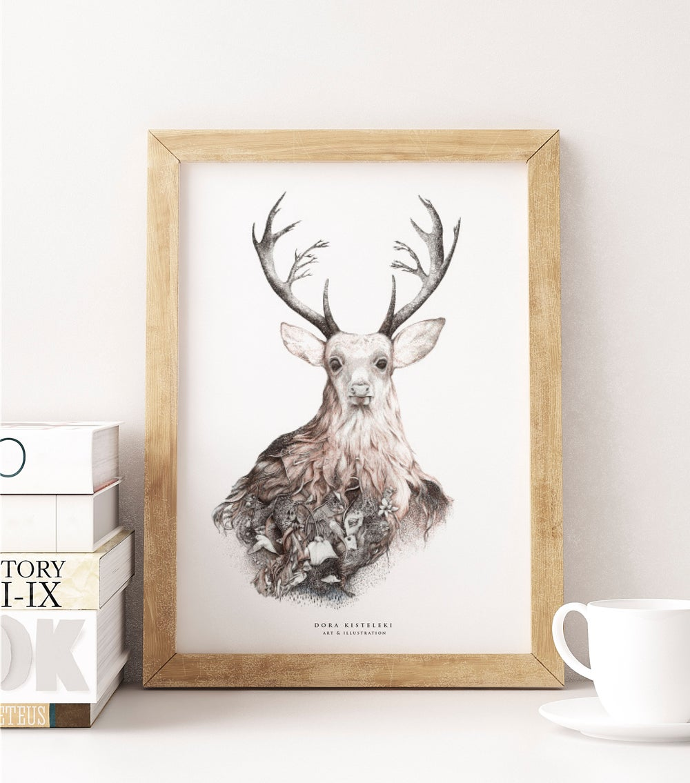 Image of Deer | Art Print on Recycled paper