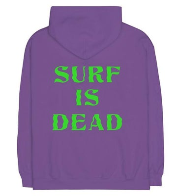 Image of SURF IS DEAD - WAVY DAYS HOODIE (PURPLE)