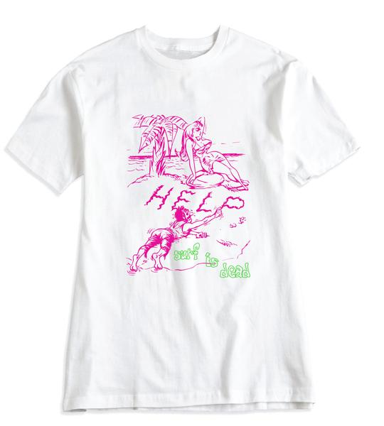 Image of SURF IS DEAD - CAST AWAY TEE (WHITE)