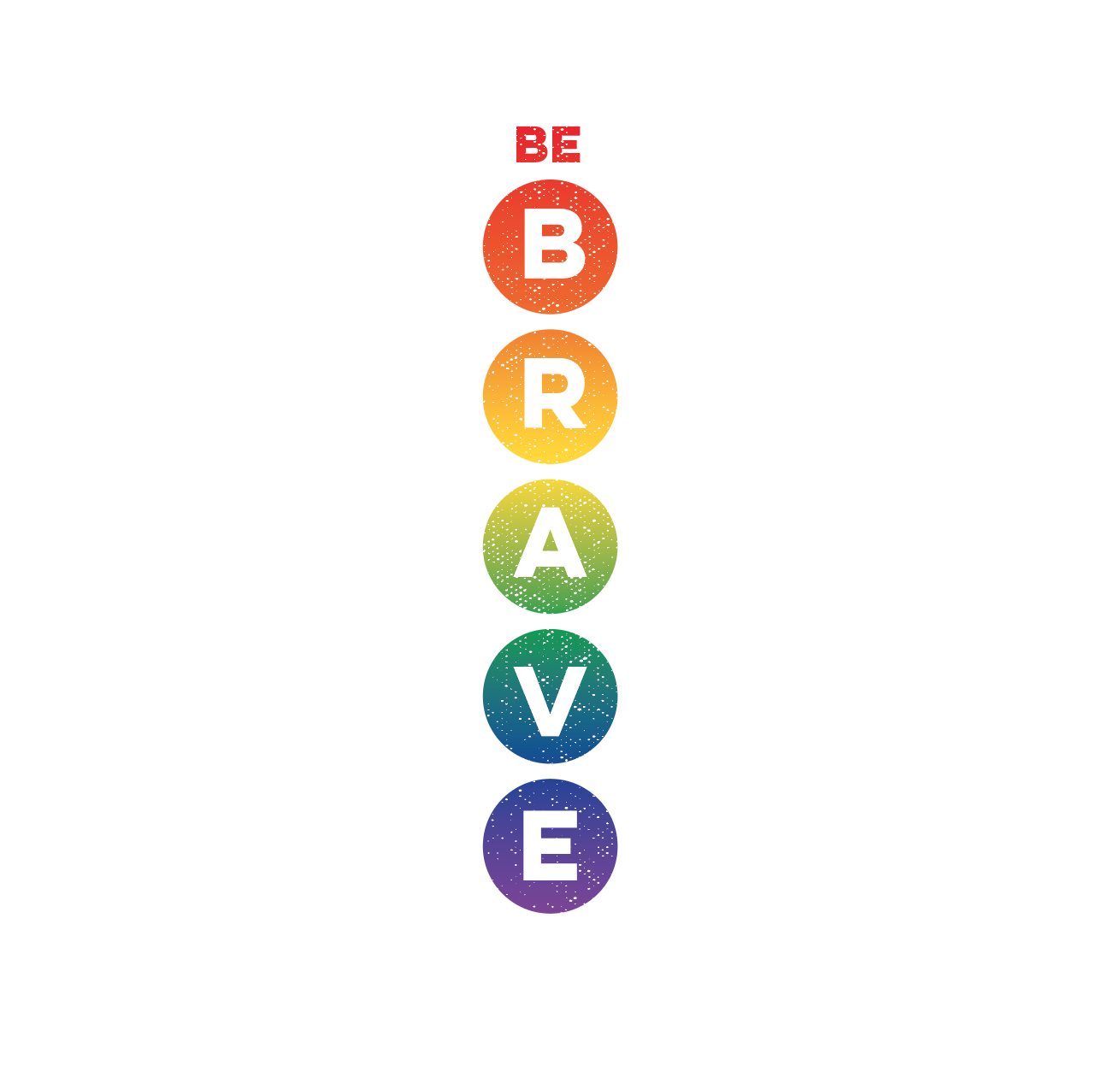 Image of Reorder Rainbow Be Brave Tank on Silver