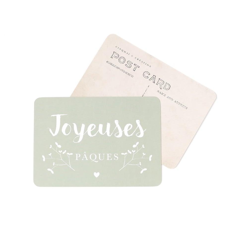 Image of CARTE POSTALE JOYEUSES PÂQUES / JANE