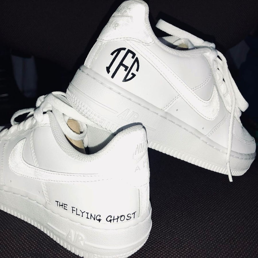 Image of NIKE AF1 X THE FLYING GHOST CUSTOM LIMITED EDITION