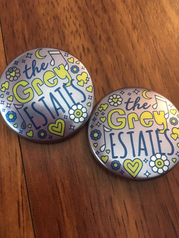 Image of 1.5 inch Grey Estates Buttons