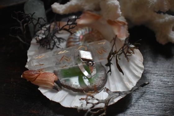 Image of ~ 'Sea Spells' ~ Diamond Shaped Pearl Ring
