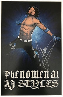 Image of AJ Styles Art Print signed by AJ STYLES