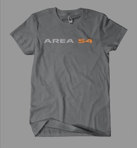 Image of Area54 Logo Tee - Charcoal