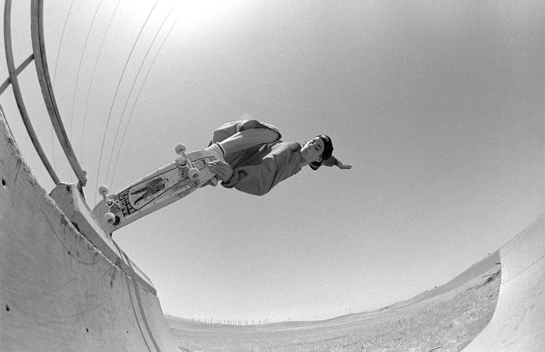 Image of John Cardiel, Crail, West Side Fwy CA 1992, Dogtown skateboards rider, by Tobin Yelland