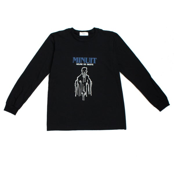 Image of MINUIT LONG SLEEVE TEE - BLACK