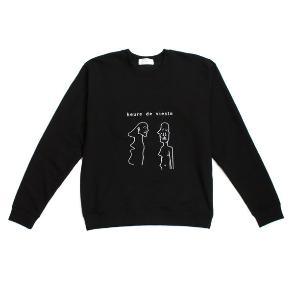 Image of AMIS SWEATER - BLACK
