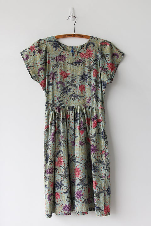 Image of SOLD Batik Print Cotton Dress