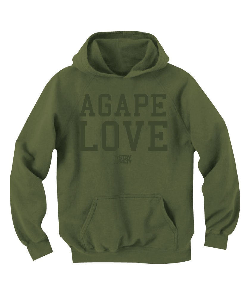 Image of StaySalty513 - Agape Love Hoody (olive/olive)