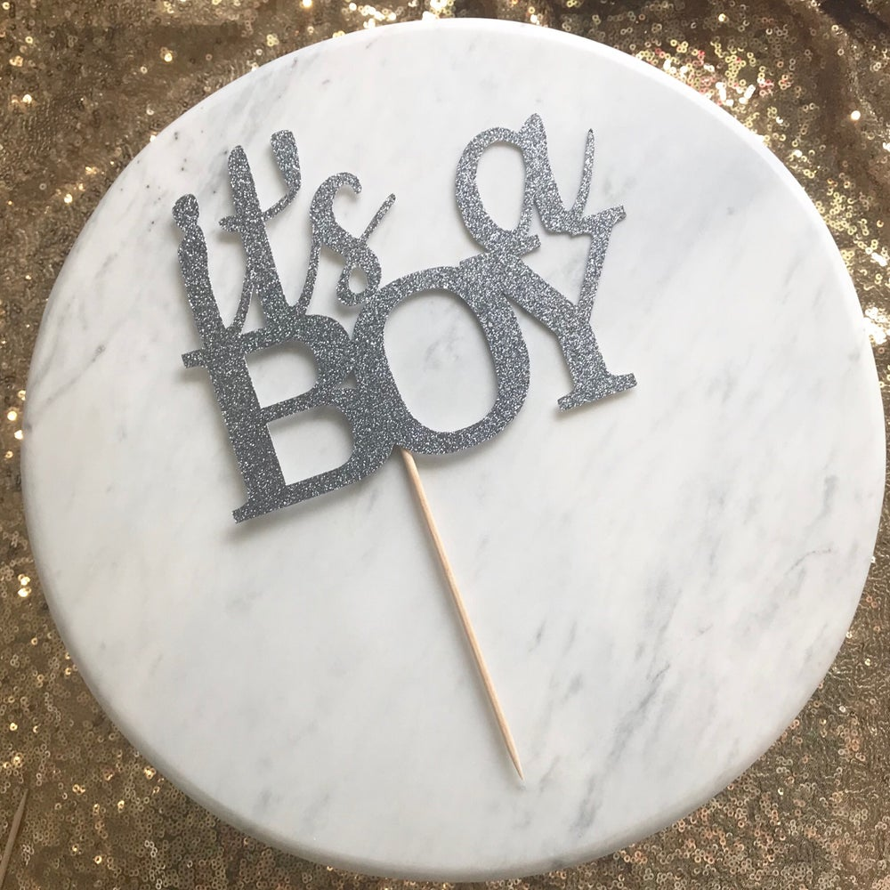 Image of It's a Boy Cake Topper