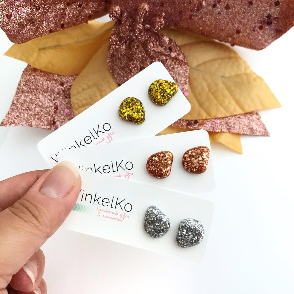 Image of Glitter Pebble Studs