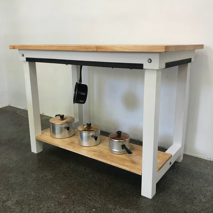 Image of INDUSTRIAL KITCHEN ISLAND BENCH