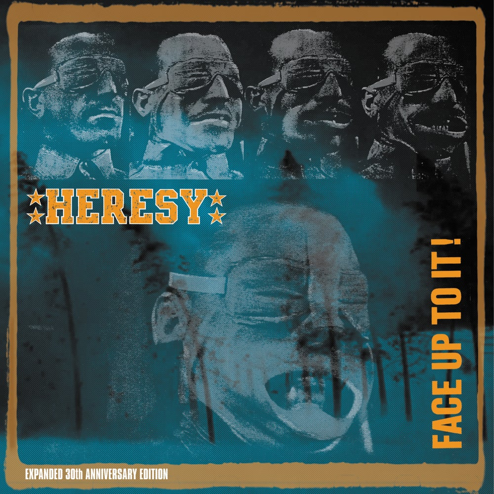 Image of HERESY - FACE UP TO IT! 30TH ANNIVERSARY EDITION DOUBLE LP PLUS T SHIRT OFFER!