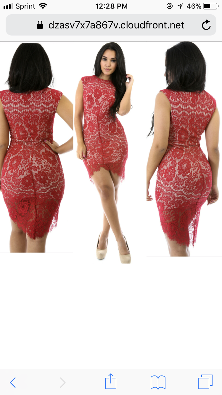 Image of Red curve dress