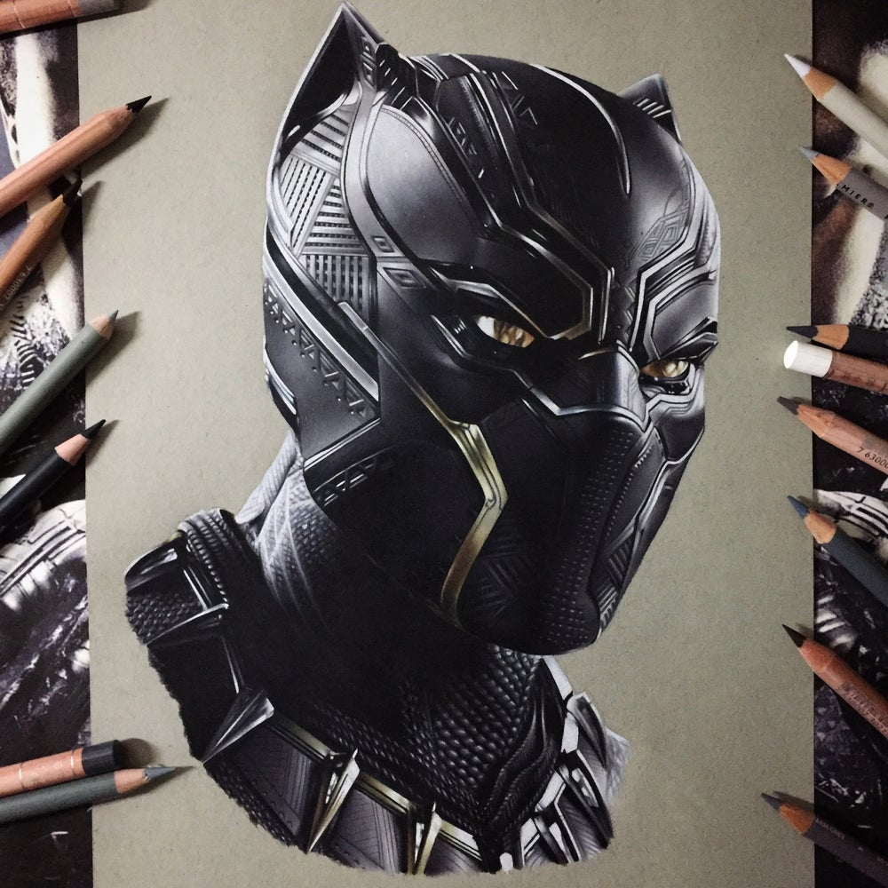 Image of Limited edition black Panther print