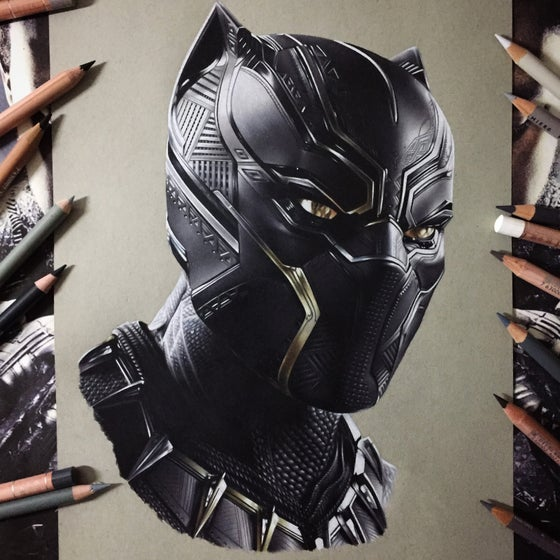 Image of Limited edition black Panther prints