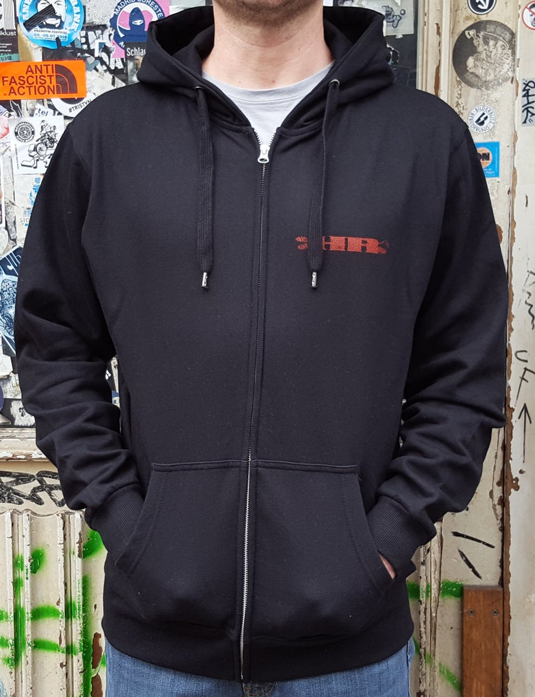 Image of Hellride 'OG Logo' Hooded Zipper black