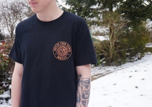 Image of Sun Badge T-shirt Black