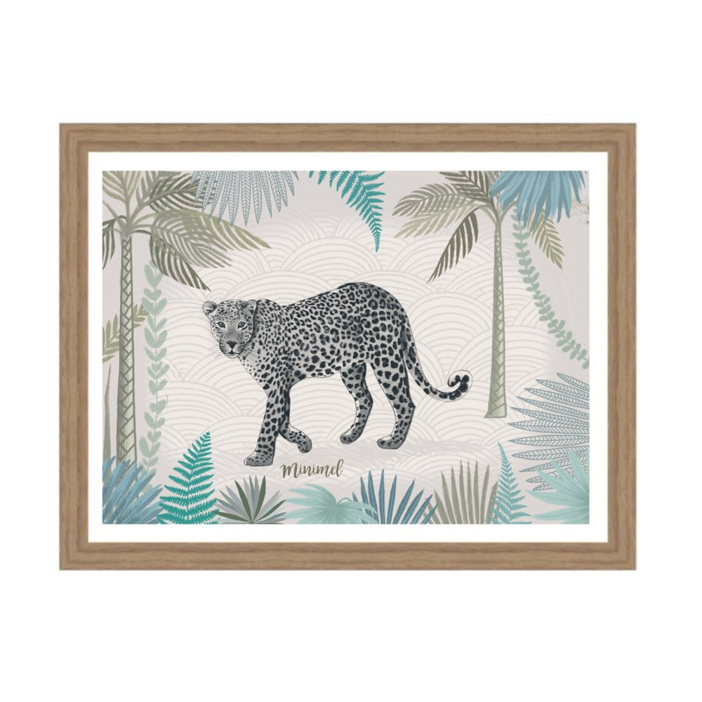 Image of Affiche Leo Jungle A3 / Jungle Leo A3 poster