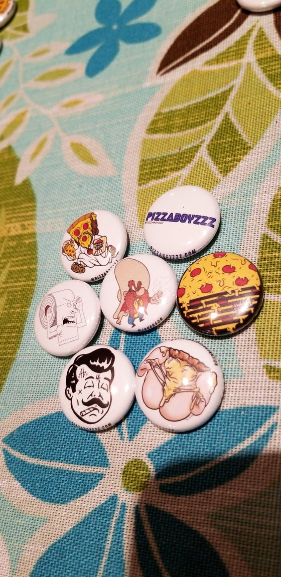 Image of Limited edition pack #5 of 24 half dozen button set + bonus button (Mar.1-14series)